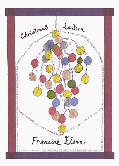 The cover of 'Christman Lantern' by Francine Elena.